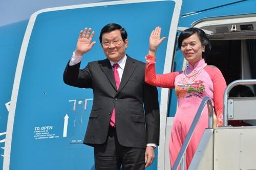 Chu tich nuoc Truong Tan Sang len duong tham Duc hinh anh