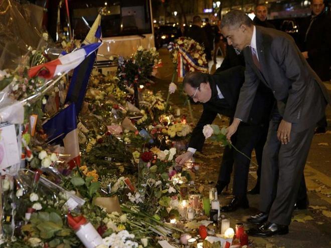 Tong thong Obama tham hien truong khung bo dam mau Paris hinh anh