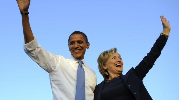 Obama ung ho ba Clinton trong cuoc dua vao Nha Trang hinh anh