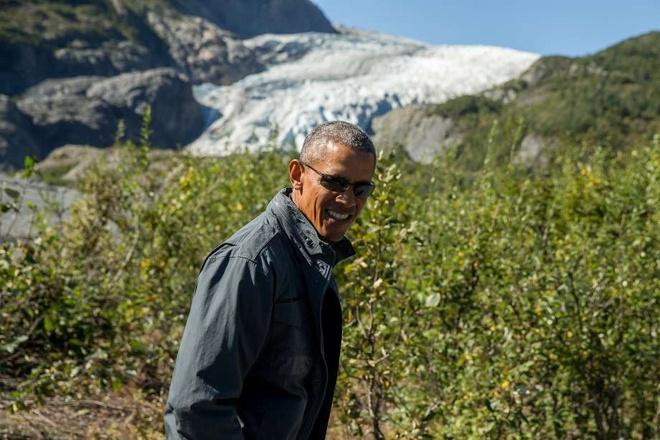 Obama dua ca gia dinh tham quan vuon quoc gia hinh anh