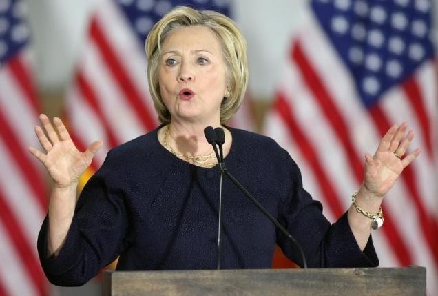 Ba Clinton thang ap dao o thu do Washington hinh anh
