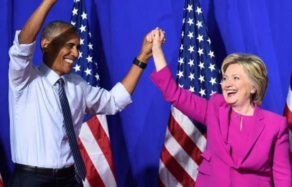 Obama noi da san sang 'chuyen gay tiep suc' cho ba Clinton hinh anh