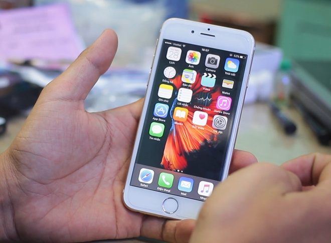 iPhone 6S dung ruot 5S co 3D Touch o Sai Gon hinh anh