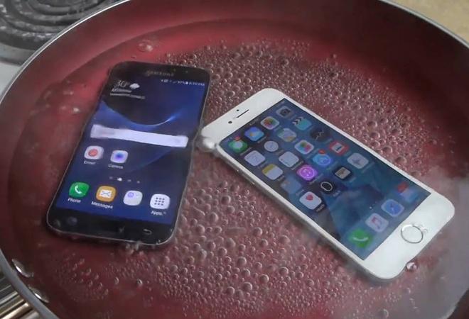 Dun soi Galaxy S7 va iPhone 6S hinh anh