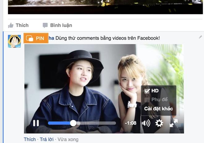 Facebook cho binh luan bang video o Viet Nam hinh anh