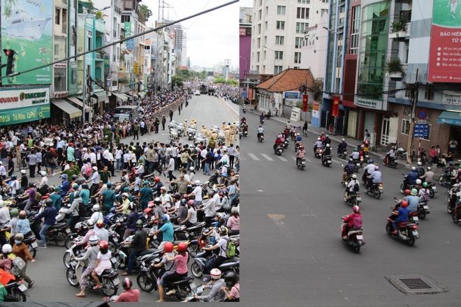 Duong pho Sai Gon truoc va sau khi Tong thong Obama ghe tham hinh anh
