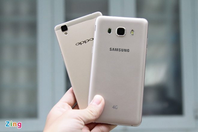 Samsung Galaxy J5 2016 do Oppo F1: Dong gia 5,5 trieu dong hinh anh 2