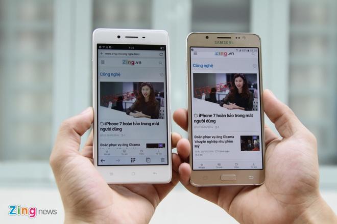 Samsung Galaxy J5 2016 do Oppo F1: Dong gia 5,5 trieu dong hinh anh 7