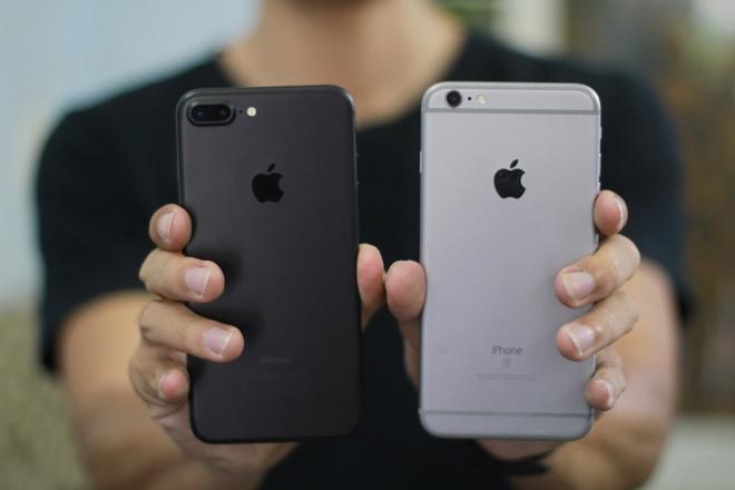 So thiet ke iPhone 7 Plus voi iPhone 6S Plus hinh anh