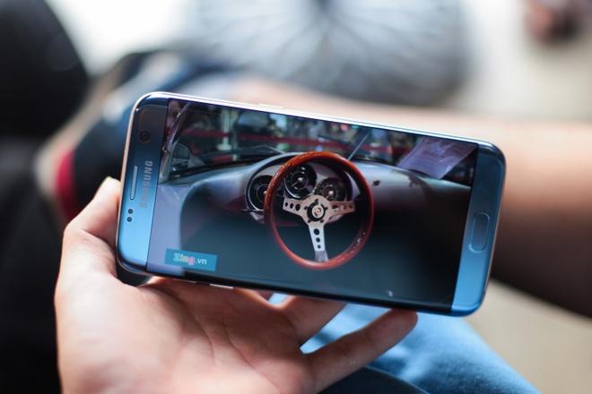 Anh Samsung Galaxy S7 edge xanh san ho sap ban tai VN hinh anh