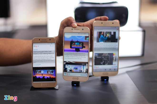 Anh thuc te Samsung Galaxy A3 2017 man hinh 4,7 inch hinh anh 8