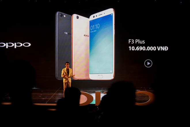 Oppo F3 Plus trinh lang voi gia 10,7 trieu dong hinh anh