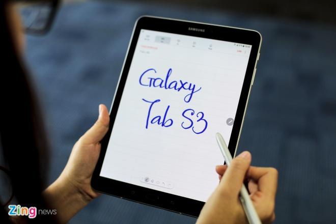 Mo hop Samsung Galaxy Tab S3 gia 16,5 trieu tai VN hinh anh