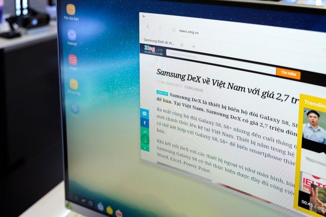 Trai nghiem Samsung DeX: Phu kien bien smartphone thanh may tinh hinh anh 11
