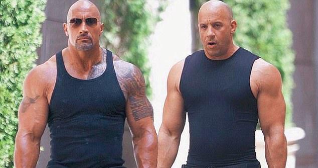 Vin Diesel va The Rock khang dinh van la anh em tot hinh anh