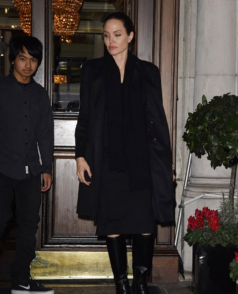 Angelina Jolie va cac con anh 1