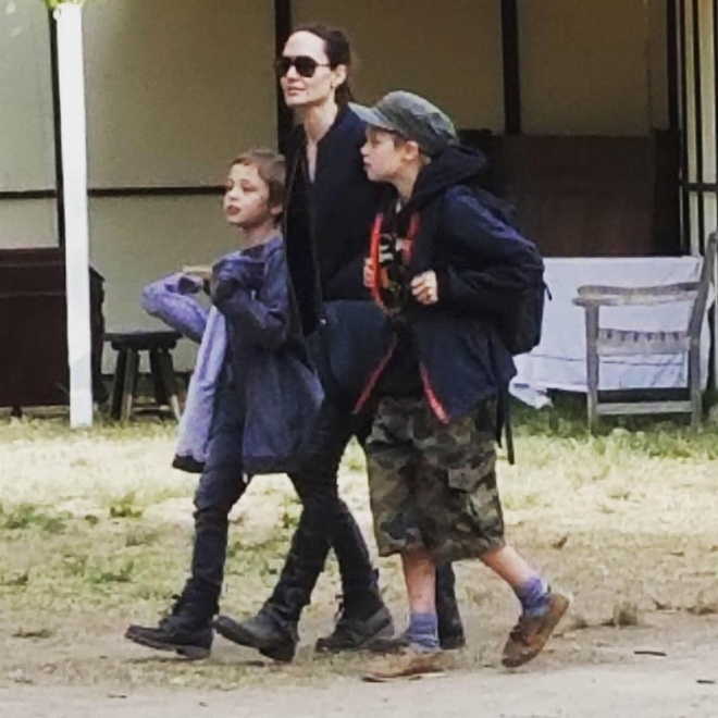 Mac Brad Pitt tieu tuy, Angelina Jolie van vui ve di choi cung cac con hinh anh 2