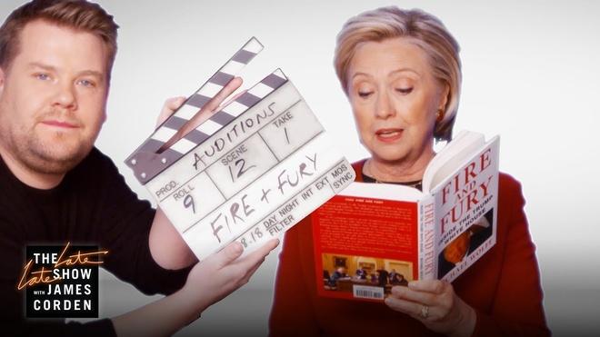 Hillary Clinton thu giong doc sach ve Donald Trump o Grammy 2018 hinh anh 1