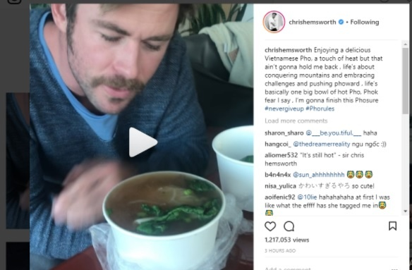 Chris Hemsworth den Viet Nam anh 1