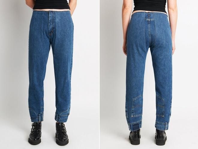 Quan jeans lon nguoc tao bao gay xon xao gioi thoi trang hinh anh 2