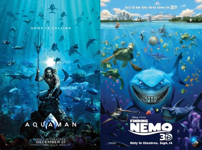 Poster chinh thuc 'Aquaman' bi fan che gieu vi giong 'Finding Nemo' hinh anh 1