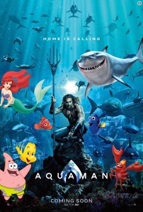 Poster chinh thuc 'Aquaman' bi fan che gieu vi giong 'Finding Nemo' hinh anh 3