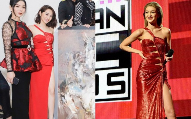 Bao Anh dien vay nhai Versace tung duoc Gigi Hadid mac cach day 2 nam? hinh anh