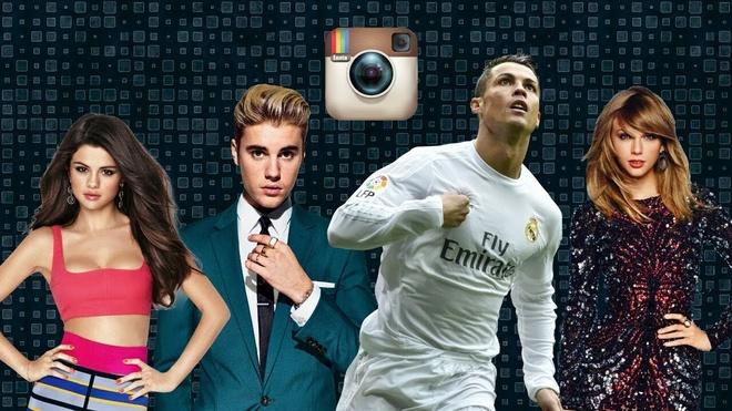 10 ngoi sao giai tri thong tri mang xa hoi Instagram nam 2018 hinh anh