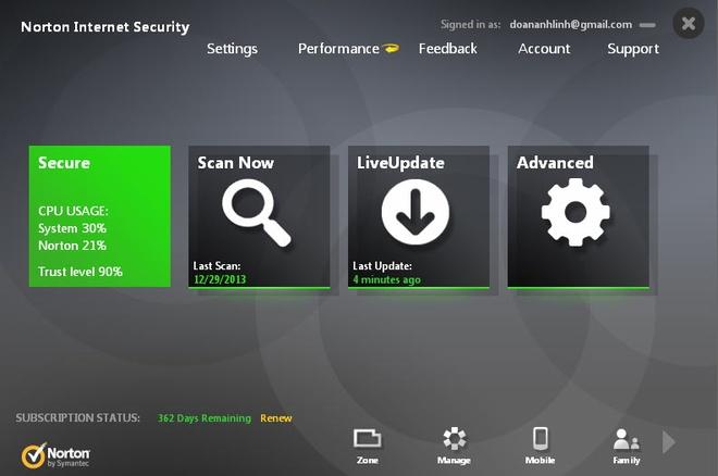 Danh gia Norton Internet Security 2014: Hieu suat an tuong hinh anh