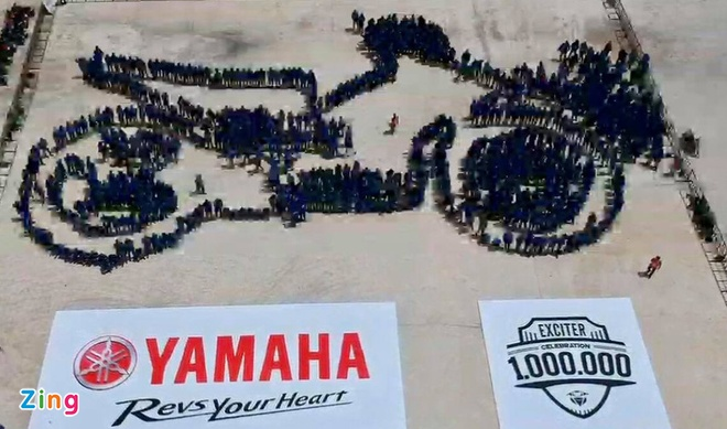 Yamaha Viet Nam lap 2 ky luc the gioi voi xe Exciter hinh anh 11