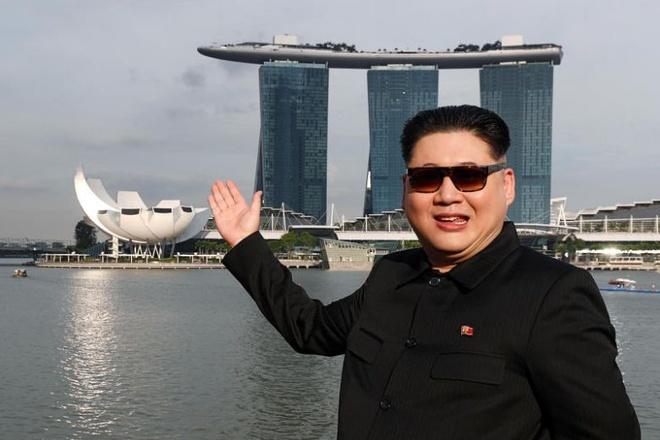 Kim Jong Un gia tan bo tai Singapore truoc them thuong dinh My - Trieu hinh anh