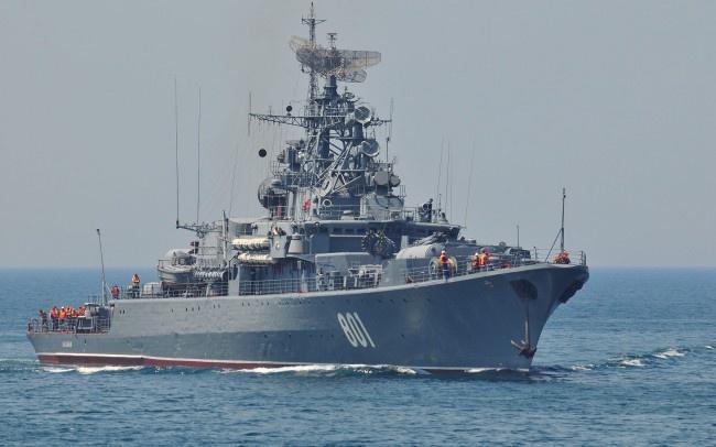 Tho Nhi Ky noi gian vi linh Nga vac sung phong ten lua hinh anh 1 Một tàu chiến Nga