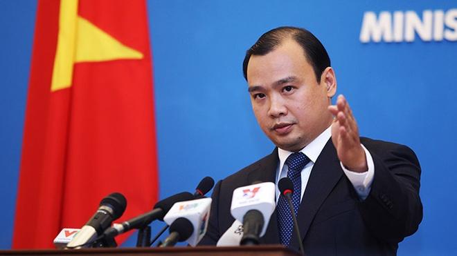 Viet Nam phan doi quan chuc Dai Loan ra dao Ba Binh hinh anh 1 Ông Lê Hải Bình, người phát ngôn của