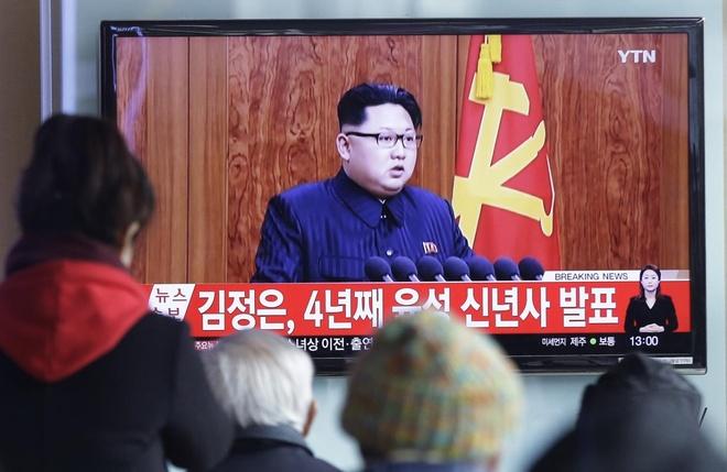 Kim Jong Un chi trich Han Quoc trong dien van dau nam hinh anh 1