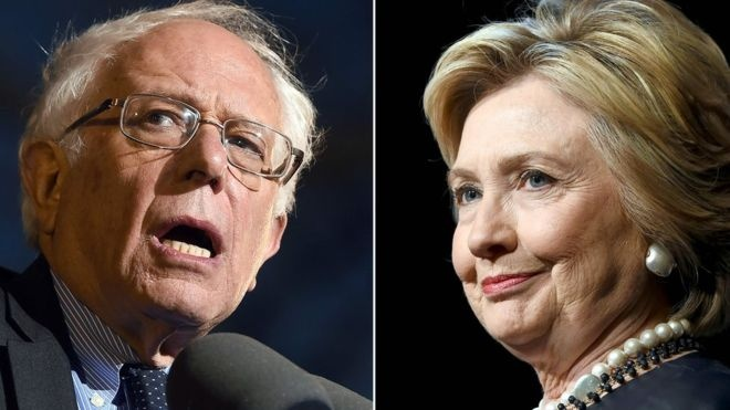 Khau chien giua Clinton va Sanders tang nhiet hinh anh 1