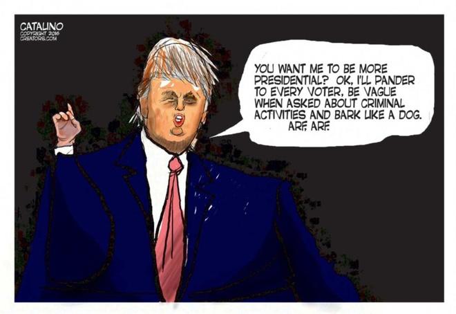 Trump 'den tu hanh tinh khac' trong tranh biem hoa hinh anh 6