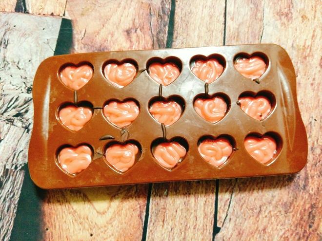 Keo chocolate hinh trai tim cho ngay Valentine hinh anh 6