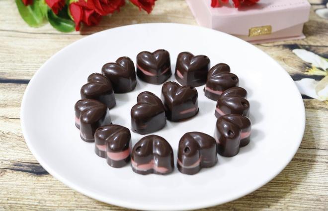Keo chocolate hinh trai tim cho ngay Valentine hinh anh 8