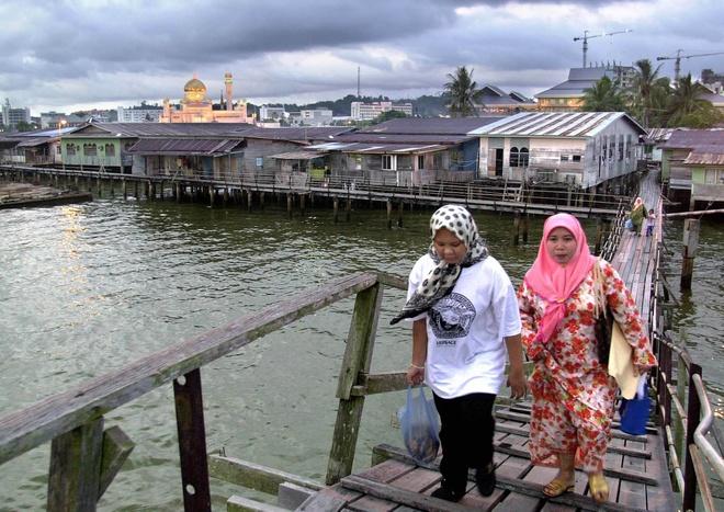 Ngoi lang noi giua thu do hoa le cua Brunei hinh anh