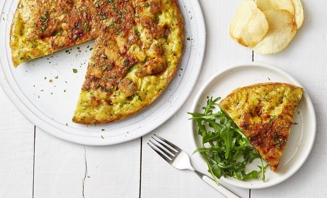 Thay đổi khẩu vị bữa sáng với món trứng ốp lết khoai tây chiên