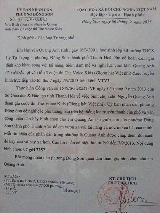 Thanh Hoa xac nhan dung cong van ung ho Quang Anh hinh anh 3
