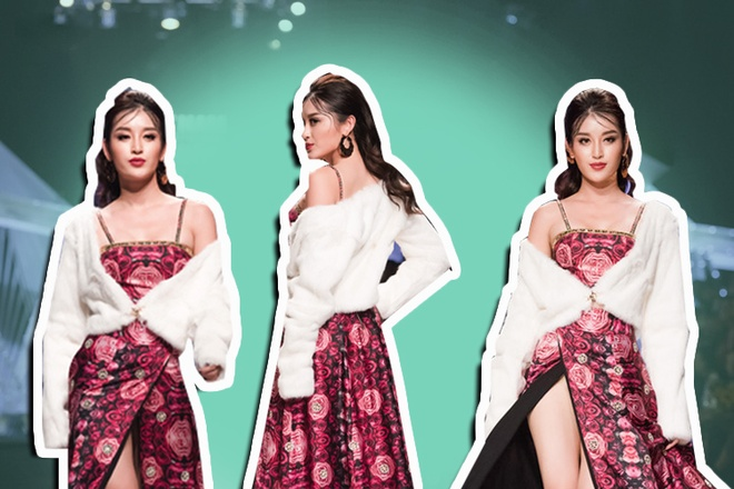 Hoang Yen, Huyen My goi cam tren san catwalk hinh anh