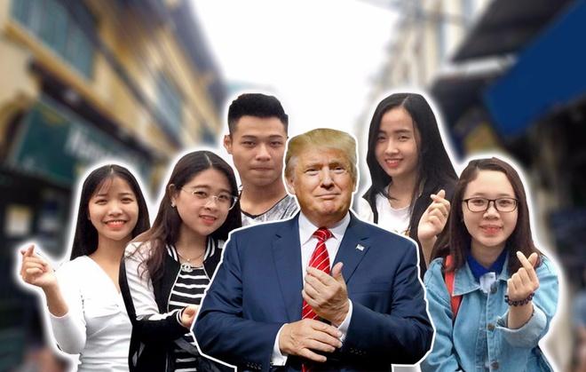 Gioi tre Ha Noi moi Tong thong Trump di an banh mi, tra da hinh anh