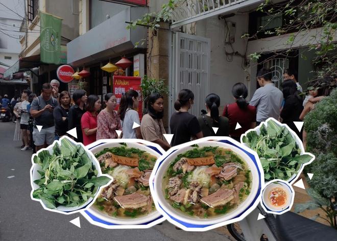 Xep hang 30 phut chi de an mot bat bun ngan tai Ha Noi hinh anh