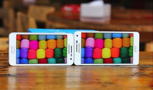 Chon smartphone cho nguoi ca tinh hinh anh 4 Màn hình hiển thị đẹp trên Samsung Galaxy A3 và Samsung Galaxy A5.