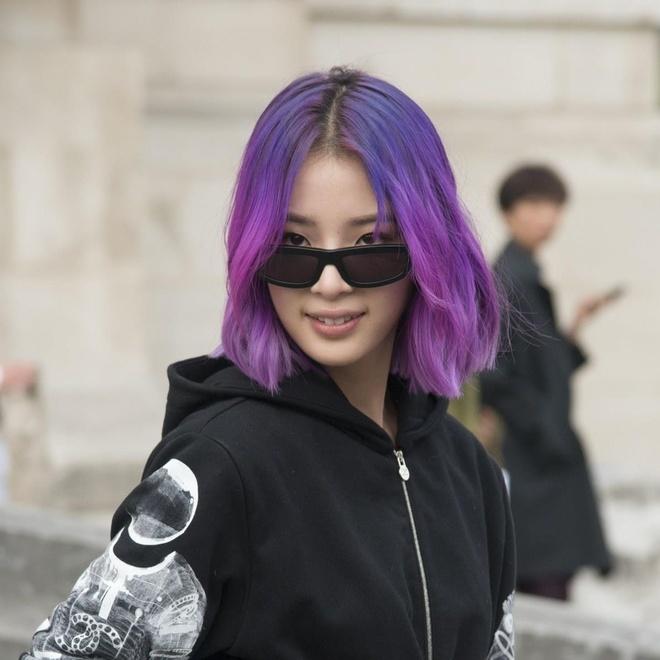 Những kiểu tóc màu tím con gái nên nhuộm ngay lập tức