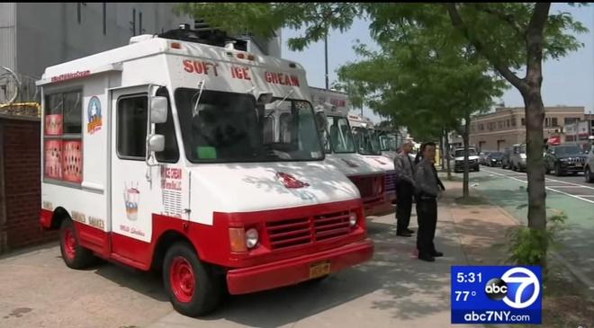 Thành phố New York tạm giữ 46 xe tải bán kem do trốn nộp phạt