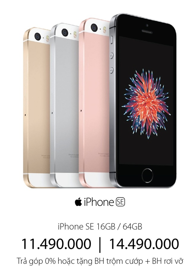 Mua iPhone SE tra gop 0% lai suat tai Vien Thong A hinh anh 2