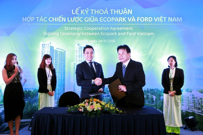 Ecopark ky thoa thuan hop tac chien luoc cung Ford Viet Nam hinh anh 1