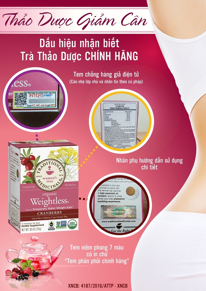 tra giam can Organic Weightless Cranberry anh 2